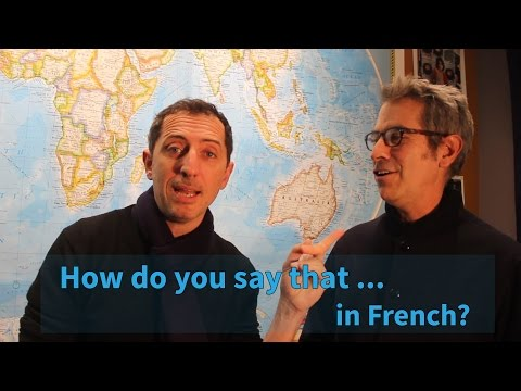 Oh my Gad! How do you say that in French? | The World