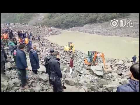 Drone Footage Shows Sichuan Landslide Devastation