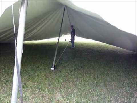 Raising the center pole of a large tent. : center pole tent - memphite.com