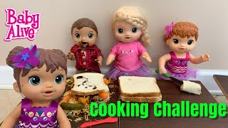 Baby Alive Cooking Challenge the best Sandwich 🥪