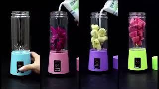 Máy Xay Sinh Tố Mini Cầm Tay Đa Năng Sạc Pin Tích Điện Hm 6 Lưỡi Kép, Siêu Mạnh, Siêu Tiện Dụng