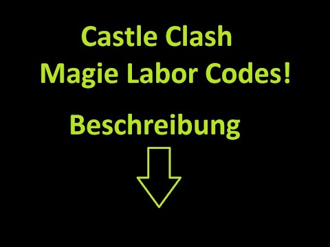 Castle Clash Event Codes ( Magie Labor )