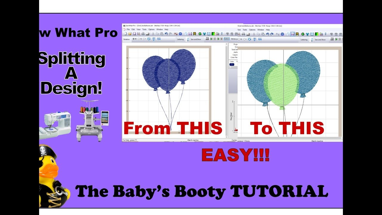Sew What Pro Tutorial - Splitting Embroidery Designs EASY Step by Step