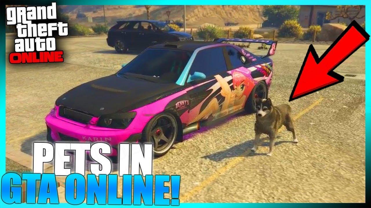 PETS IN GTA ONLINE! (Pet Script in GTA FiveM)