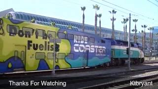 Coaster Commuter Train Downtown