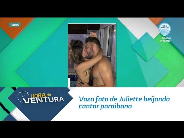Vaza foto de Juliette beijando cantor paraibano