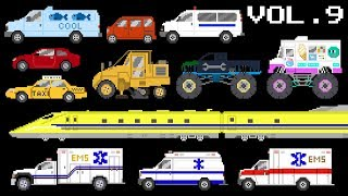 Vehicles Collection Volume 9 - Emergency Vehicles, Trains, Monster Vehicles - The Kids