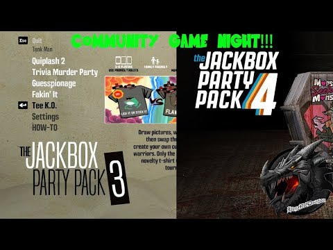 🔵LIVE🔵Community Game Night! Jackbox Party Packs 3 & 4 Super Mario Maker To Follow?