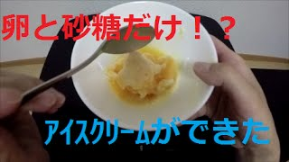 少し甘かったですが、ちゃんとアイスクリームだった!! 簡単に作れるの...