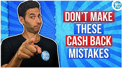 5 Common Mistakes Made With Cash Back Credit Cards