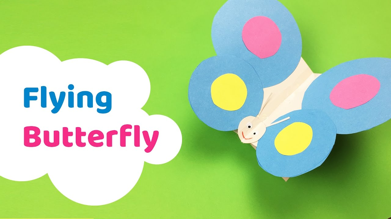 how to make flying butterfly craft for kids youtube