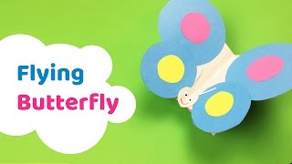 Easy to make FLYING BUTTERFLY paper craft for kids