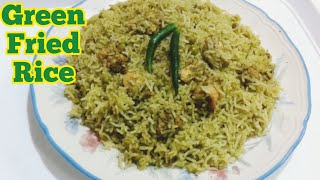 Green Rice - How to make Green Fried Rice - Chicken Green Rice-Recipe#12
