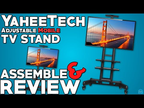 Yaheetech Adjustable Mobile TV Stand - Assemble and Review