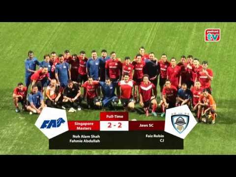 Match Highlights (Friendly): Singapore Masters (Ex International Legends) vs Jaws Soccer Club