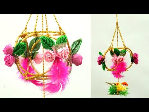 DIY Wall Hanging from Old Bangles in 5 Minutes! Easy Best out of Waste | Old Bangles DIY Wind Chime