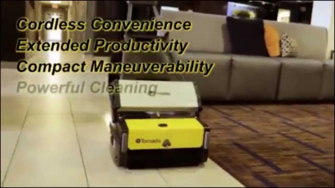 Compact Tile Grout Cleaning Machine Battery Operated Youtube