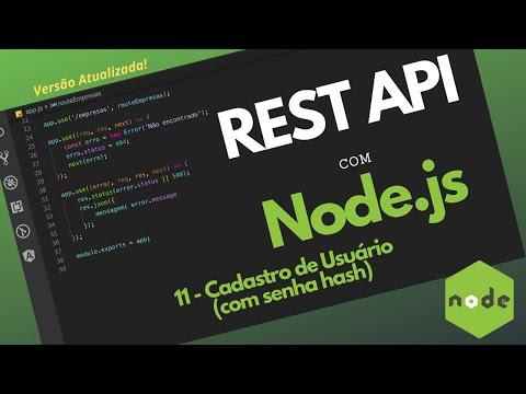API Com Node.JS - Passo 11 - Cadastro De Usuário (com Senha Hash)