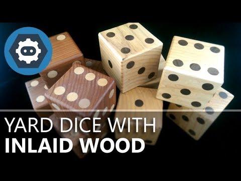 Yard Dice With Inlaid Wood
