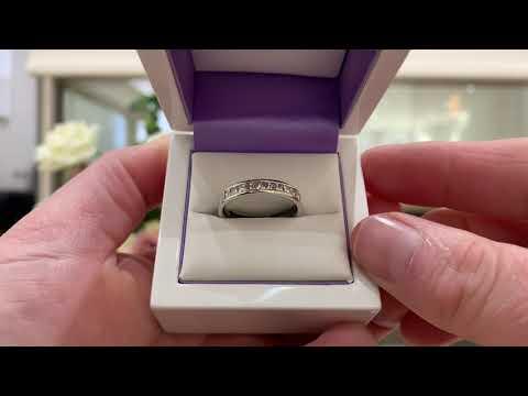 Fingerprint Eternity Ring. Diamond Fingerprint Ring