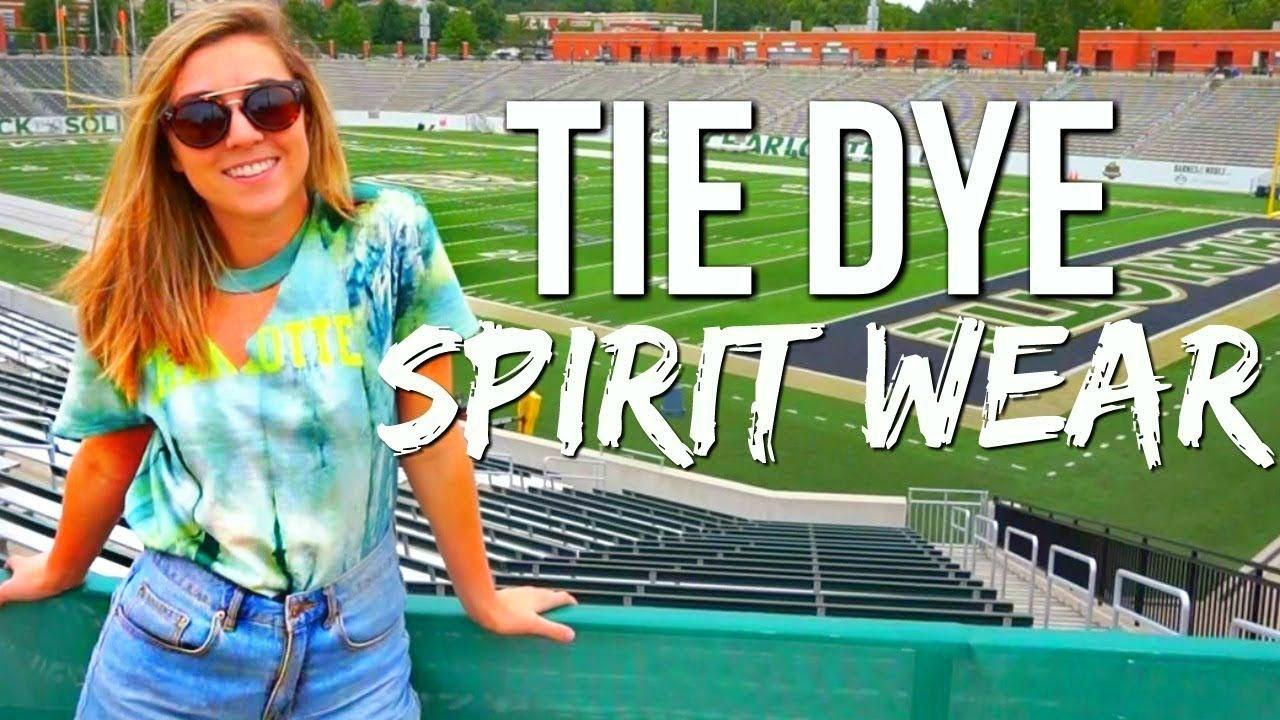 Diy Back To School Tie Dye Spirit Wear Youtube