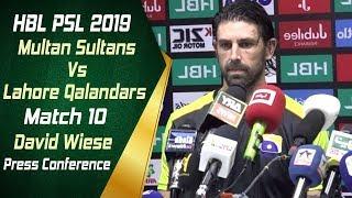 HBL PSL 4 | Match 10 Multan Sultans Vs Lahore Qalandars Post Match Press Conference | David Wiese
