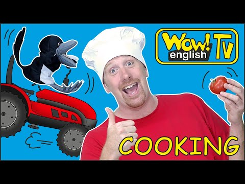 Cooking Vegetables For Kids By Steve And Maggie | Stories From Wow English TV