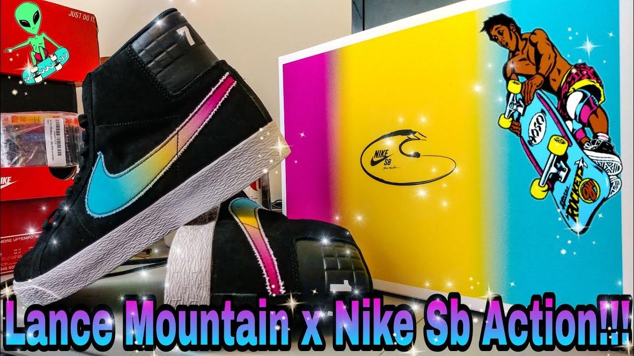 Nike SB X Lance Mountain Blazer Mid Action on Deck!!!
