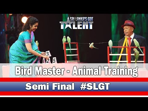 Bird Master-Animal Training | #SLGT -Semi Final Performance | Sri Lanka's Got Talent