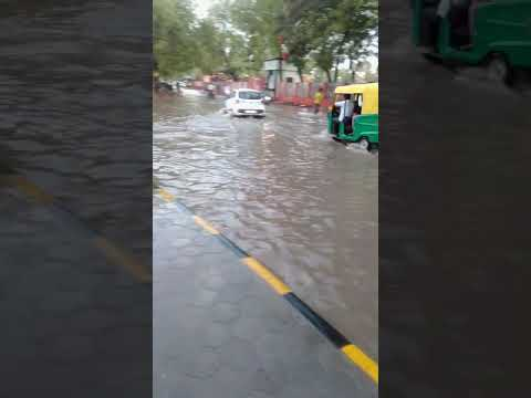 It was a 15-minute raining of Bikaner on May 17 evening |Water filled in  Bikaner Rajasthan India.