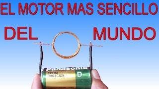 El motor mas sencillo del mundo (Muy fácil de hacer) thumbnail