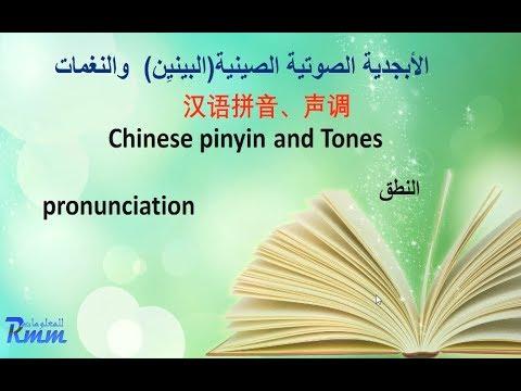 اللغة الصينية - البينين والصوتيات (طريقة النطق )