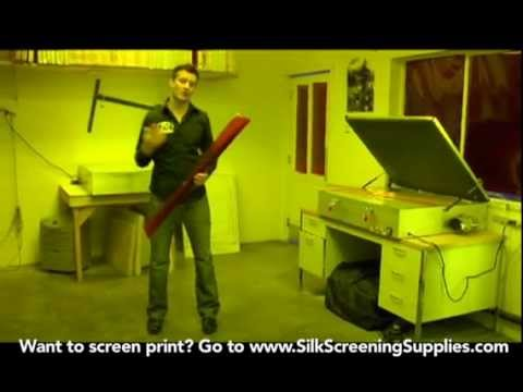 How to Screen Print - Darkroom Setup - Detailed instruction - Screen Printing 101 DVD pt 10