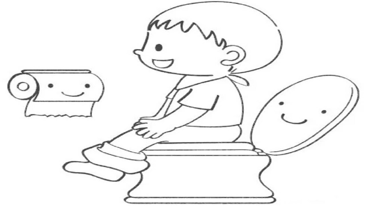 Flush Toilet Page Coloring Pages