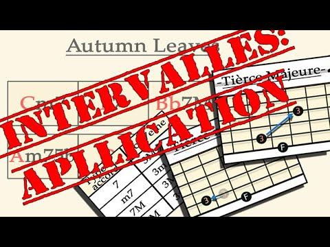 Super exercice pour pratiquer les intervalles sur autumn leaves