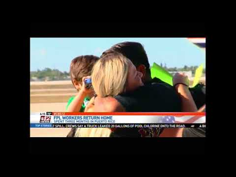 Gov. Scott Welcomes Home Utility Restoration Workers Home from Puerto Rico