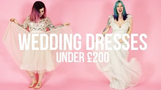 WEDDING DRESSES UNDER £200