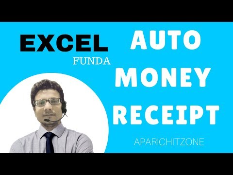HOW TO MAKE AUTO MONEY RECEIPT IN EXCEL
