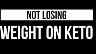 Keto Stall, keto Plateau, not losing weight anymore on keto