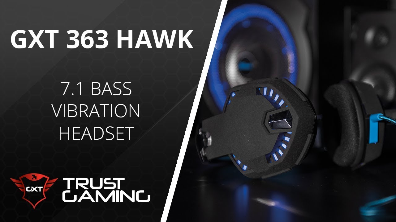 Trust com - GXT 363 Hawk 7 1 Bass Vibration Headset