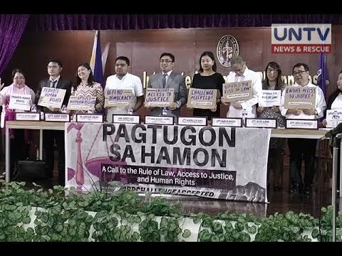 Lawyers call to unite against human rights violations related to the admin's war on drugs