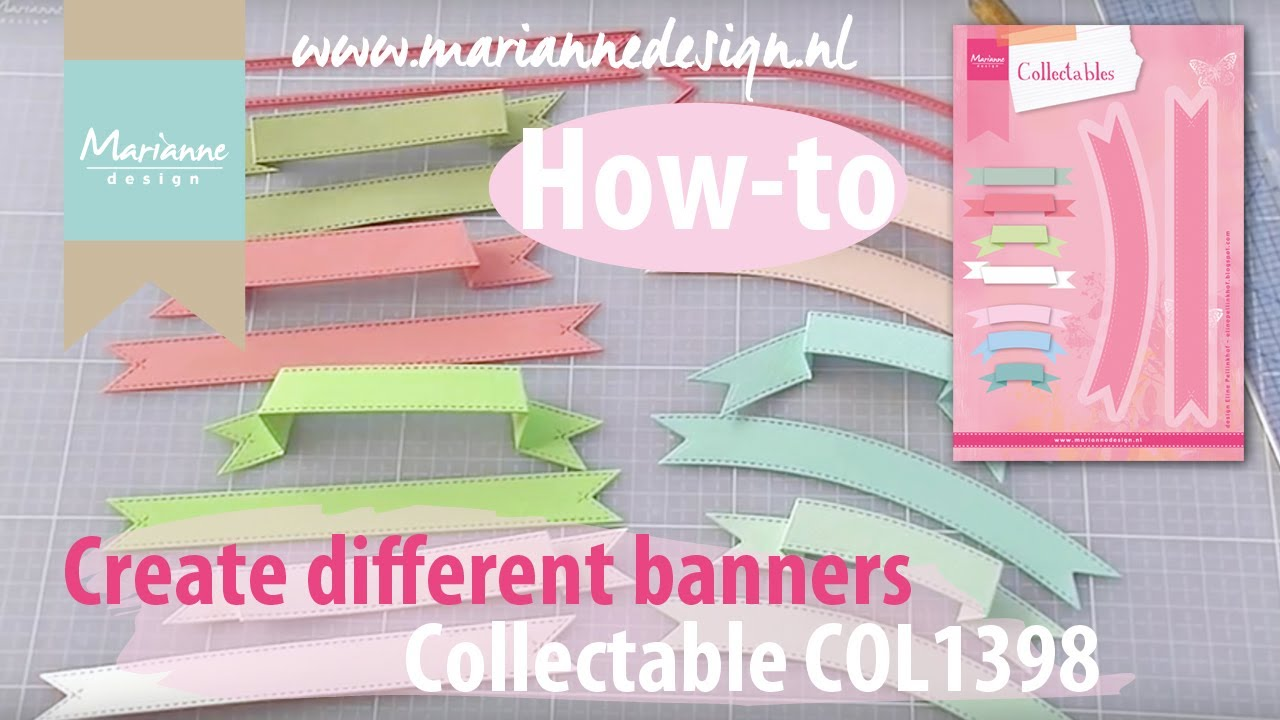 all types of paper banners with the col1398 marianne design die