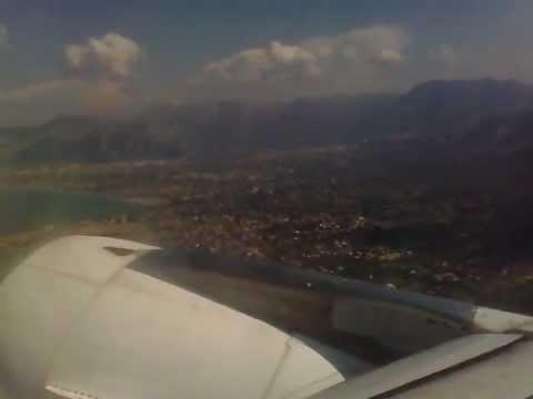 Decollo da Palermo Punta Raisi LICJ - Airbus A320 - Volo AZ1747 - Pista 07