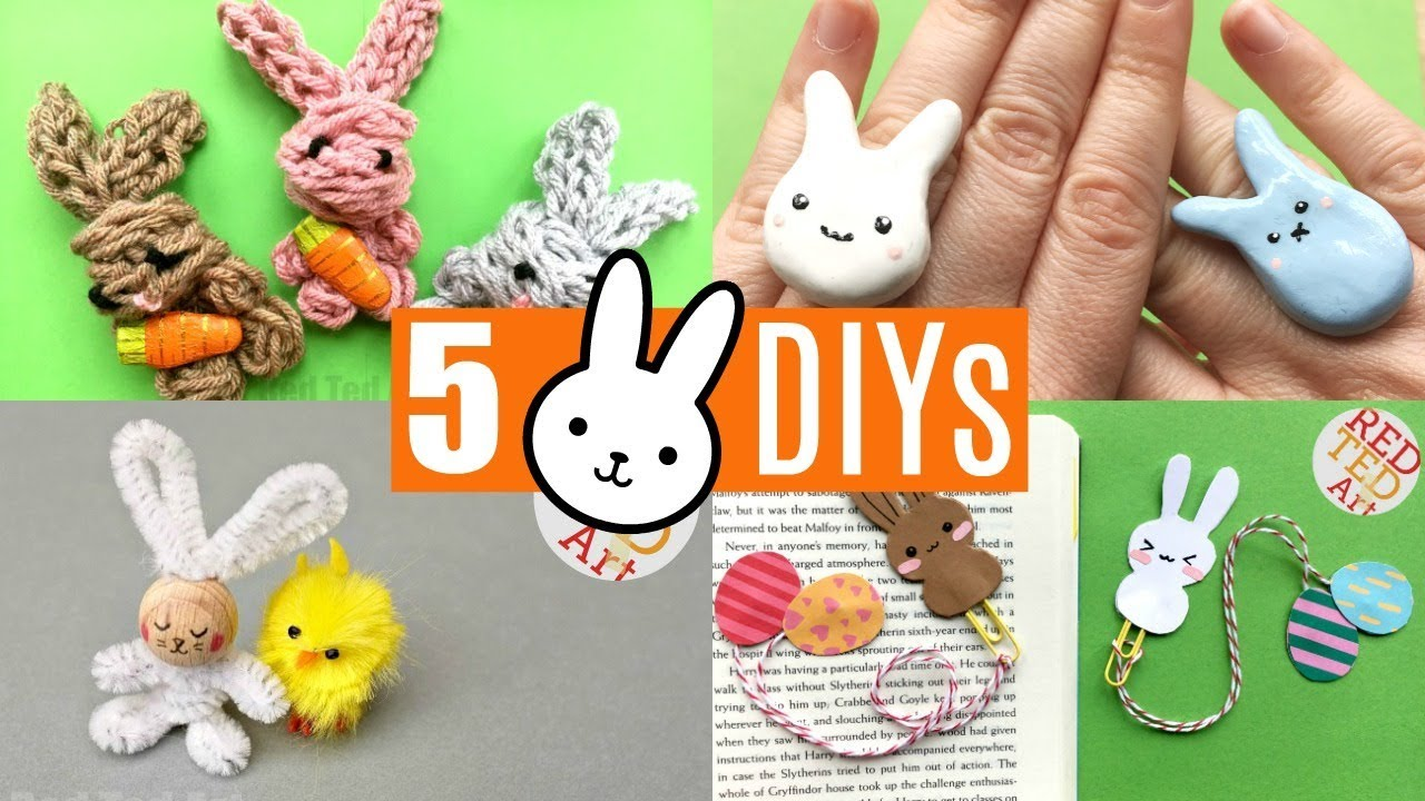 5 More Bunny Craft Ideas Easy Rabbit Diy Projects To Make Youtube