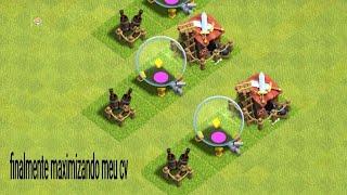 Finalmente maximizando meu cv evoluindo uma vila no clash of clans # 3