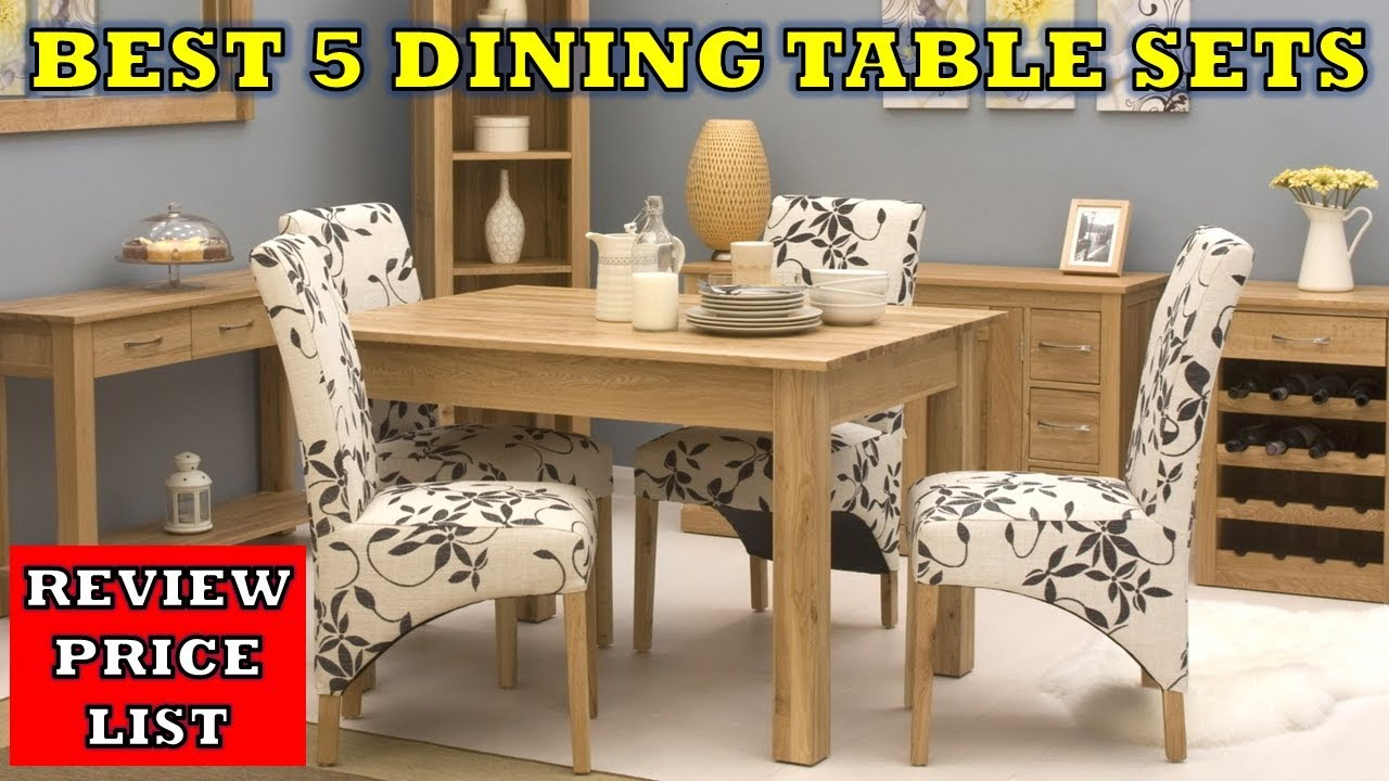 Top 5 Best Dining Table Chair Set