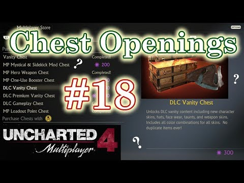 Uncharted 4 Multiplayer - DLC Vanity Chests - Chest Opening #18 - Live Commentary
