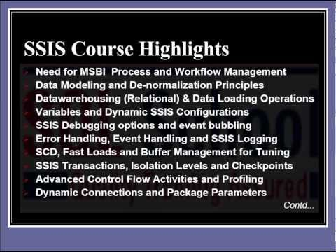 SSIS DWH Training | SSIS Online Training | SSIS Classroom Training