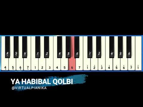 Not Angka Pianika Ya Habibal Qolbi