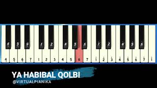 Not Angka Pianika Ya Habibal Qolbi